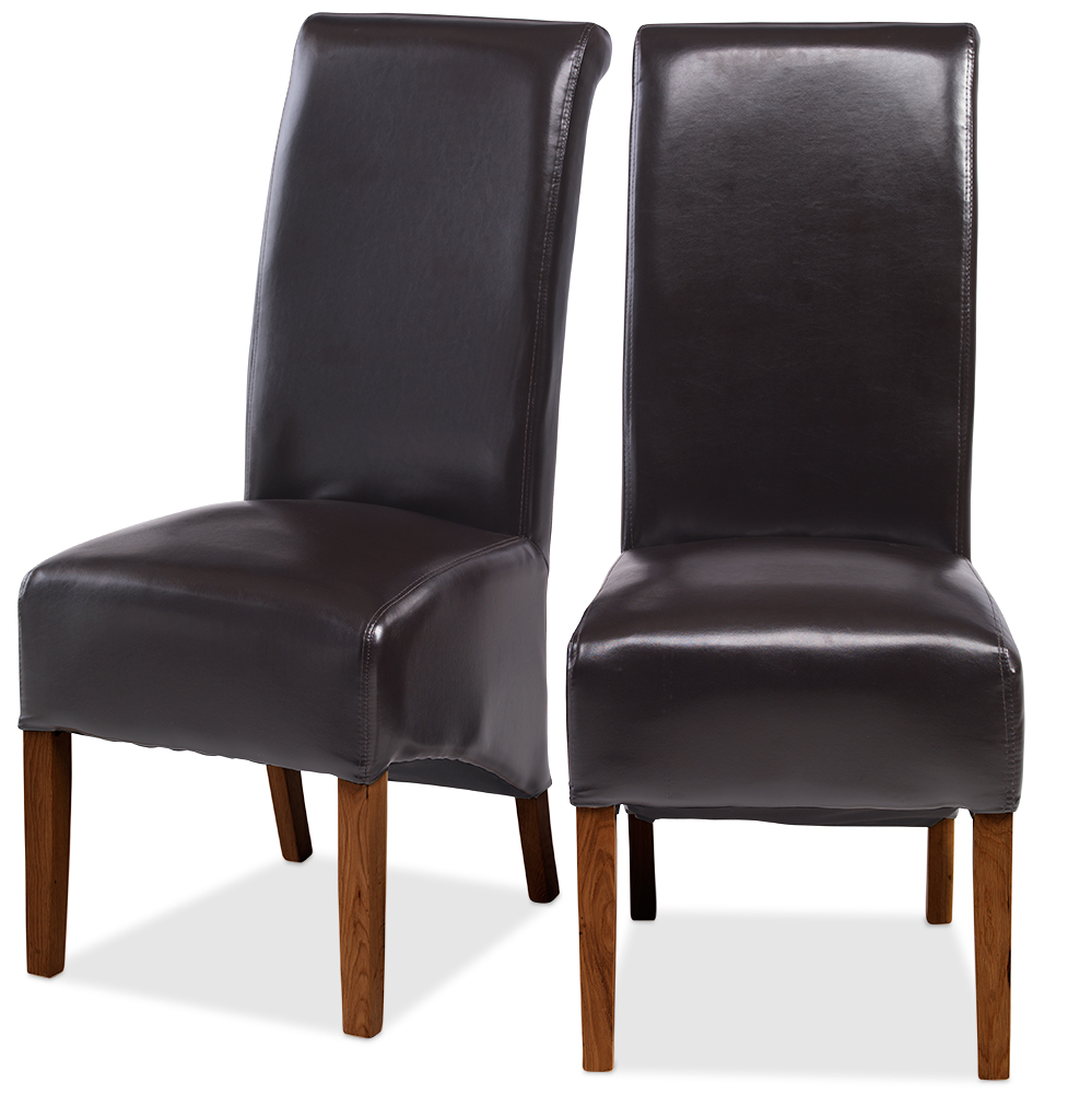 KODA Bonded Leather Chair Brown