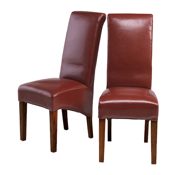 KUBA Bonded Leather Chair Red