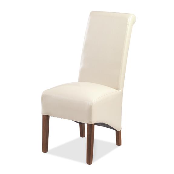 KUBA Bonded Leather Chair Beige