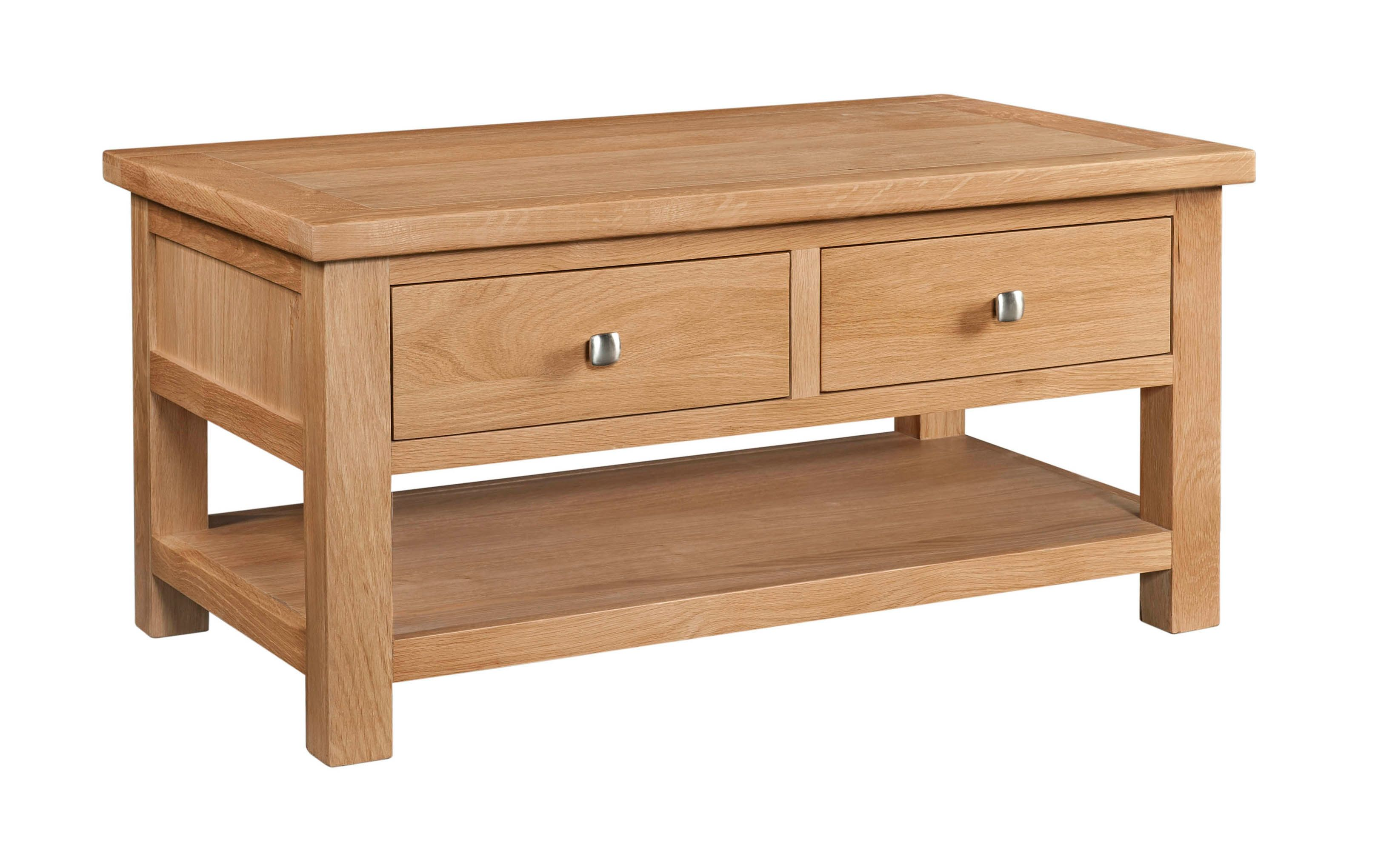 Dorchester Oak Coffee Table with 2 Draws