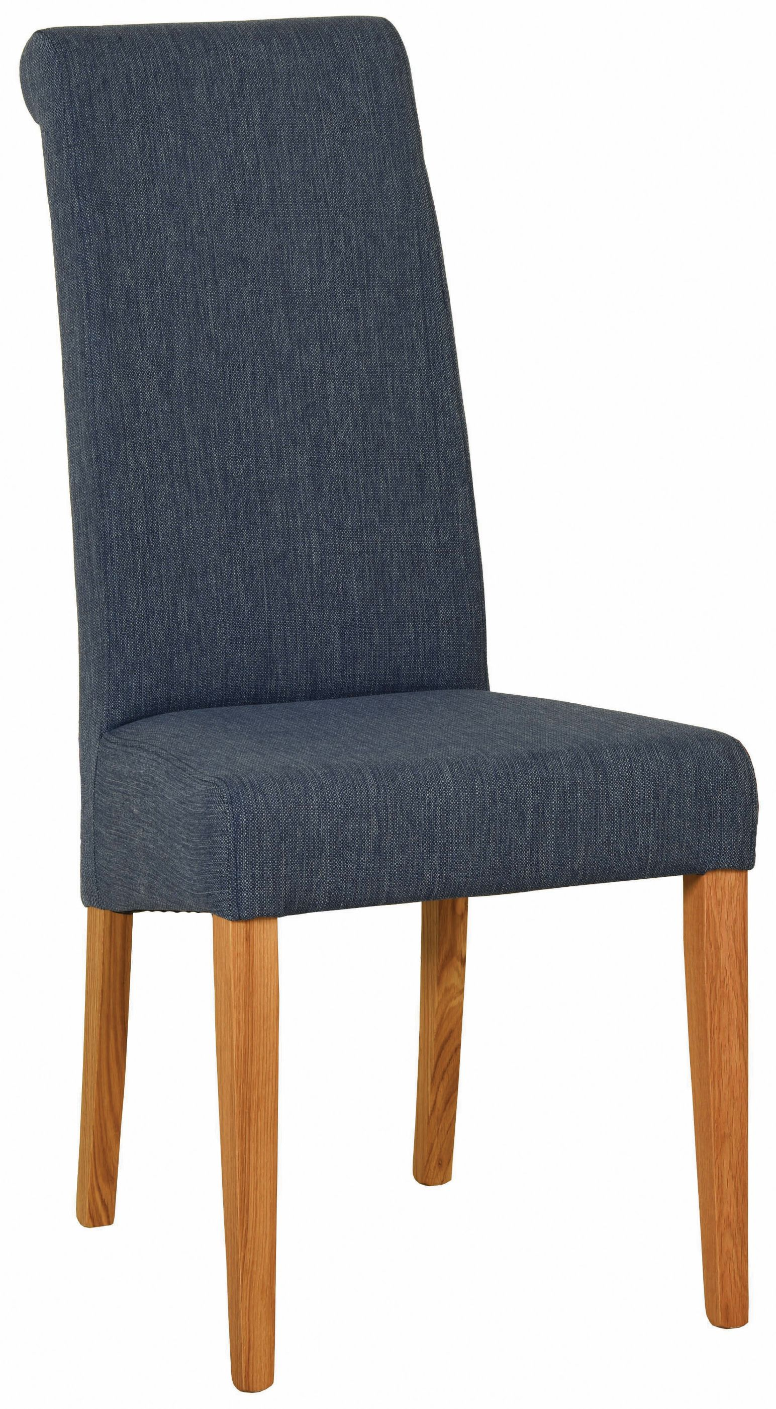 Dorchester Oak Fabric Dining Chair Blue