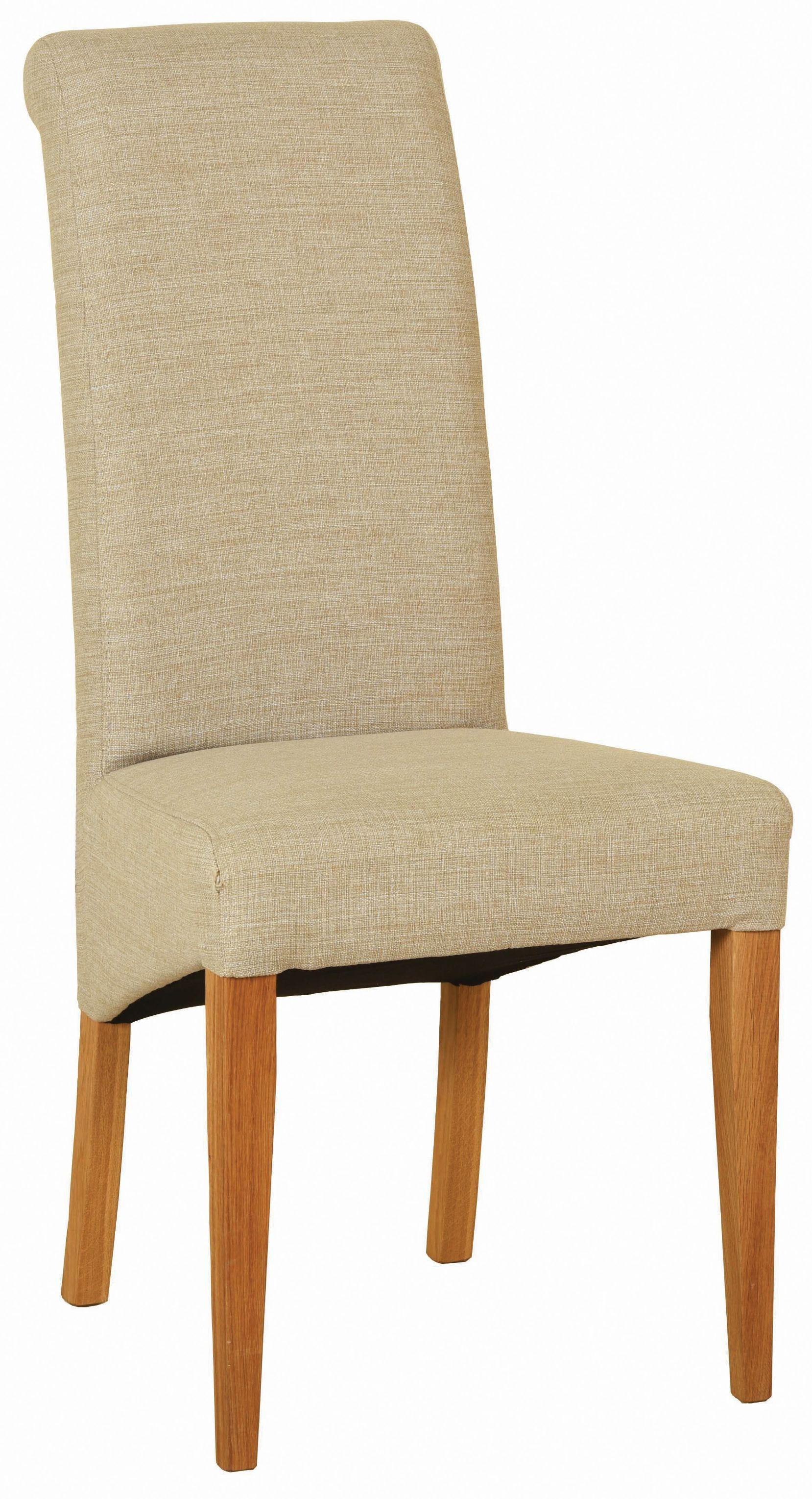 Dorchester Oak Fabric Dining Chair Beige