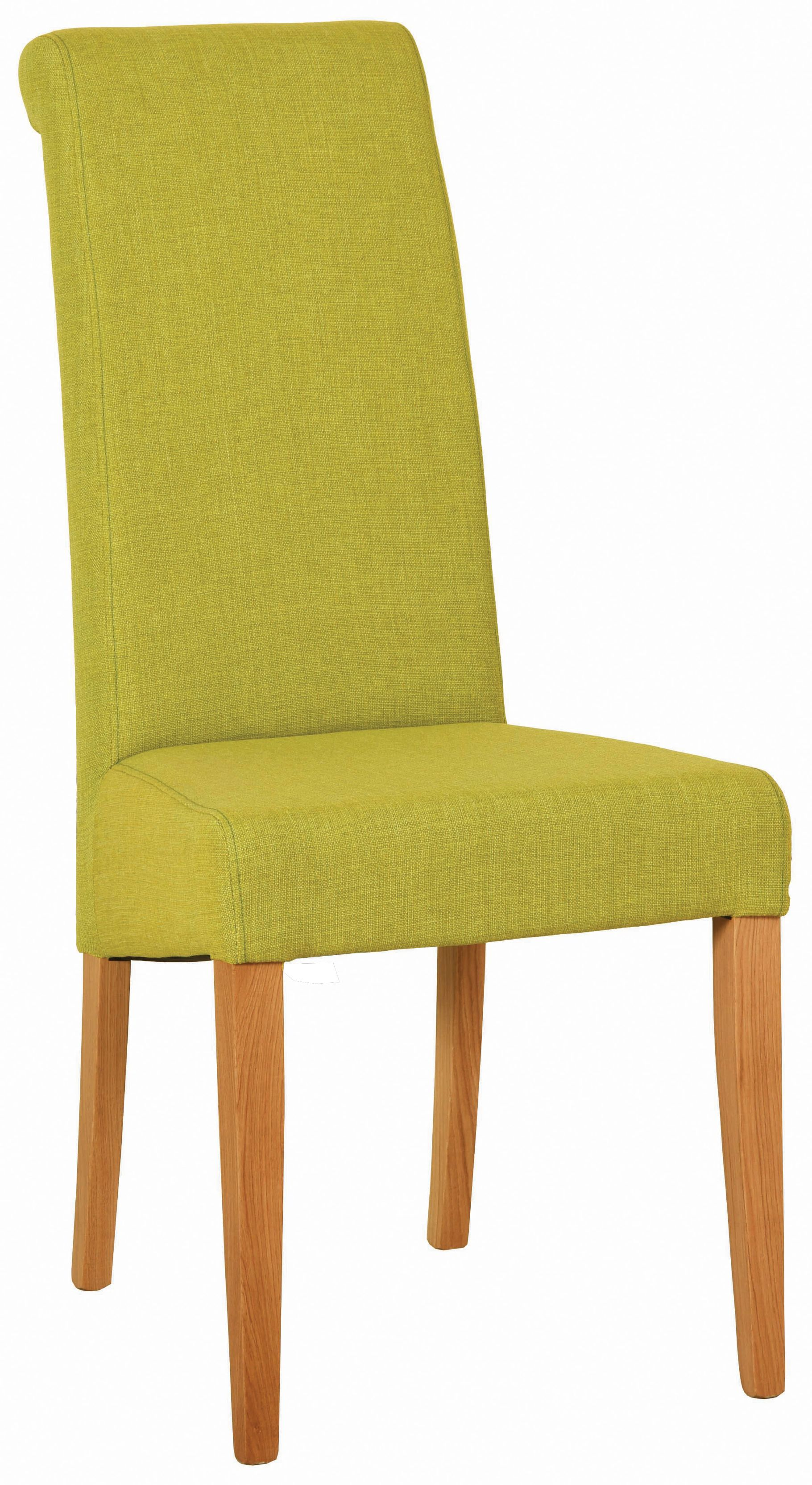 BEVERLEY OAK Lime Fabric Dining Chair