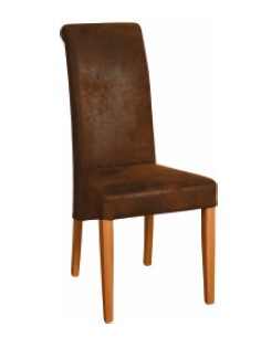 BEVERLEY OAK Bison Fabric Dining Chair