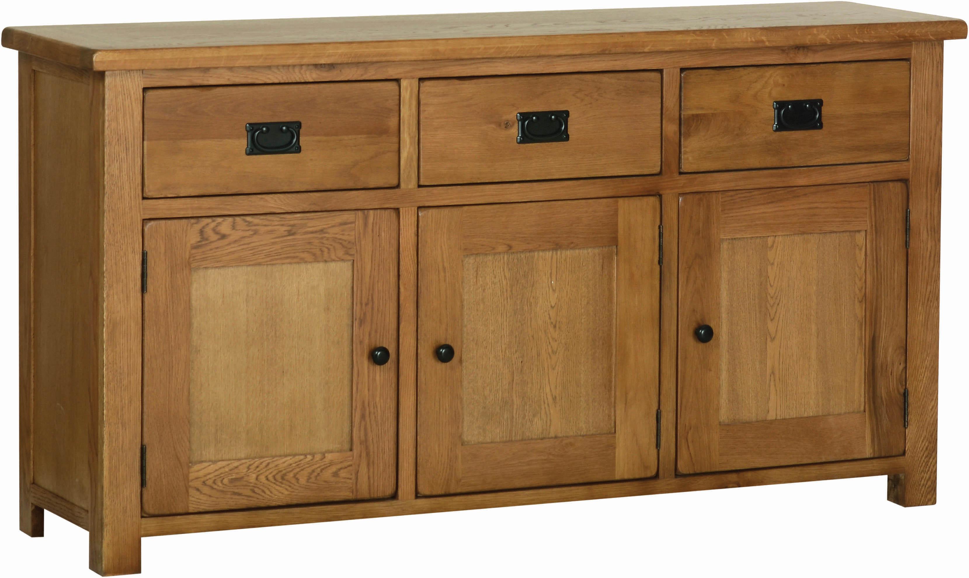 Rustic Oak Large Sideboard Living Dining Furniture Alexander Ellis