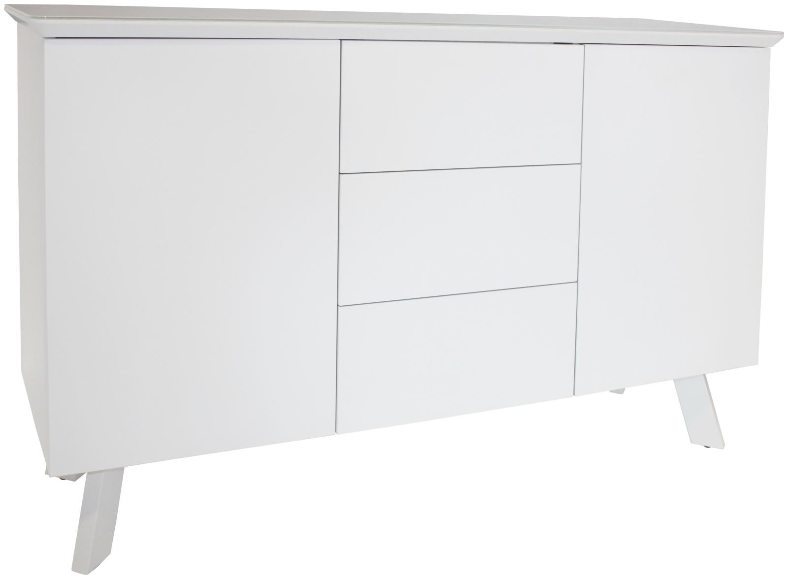 CONTEMPORARY Large Sideboard - White