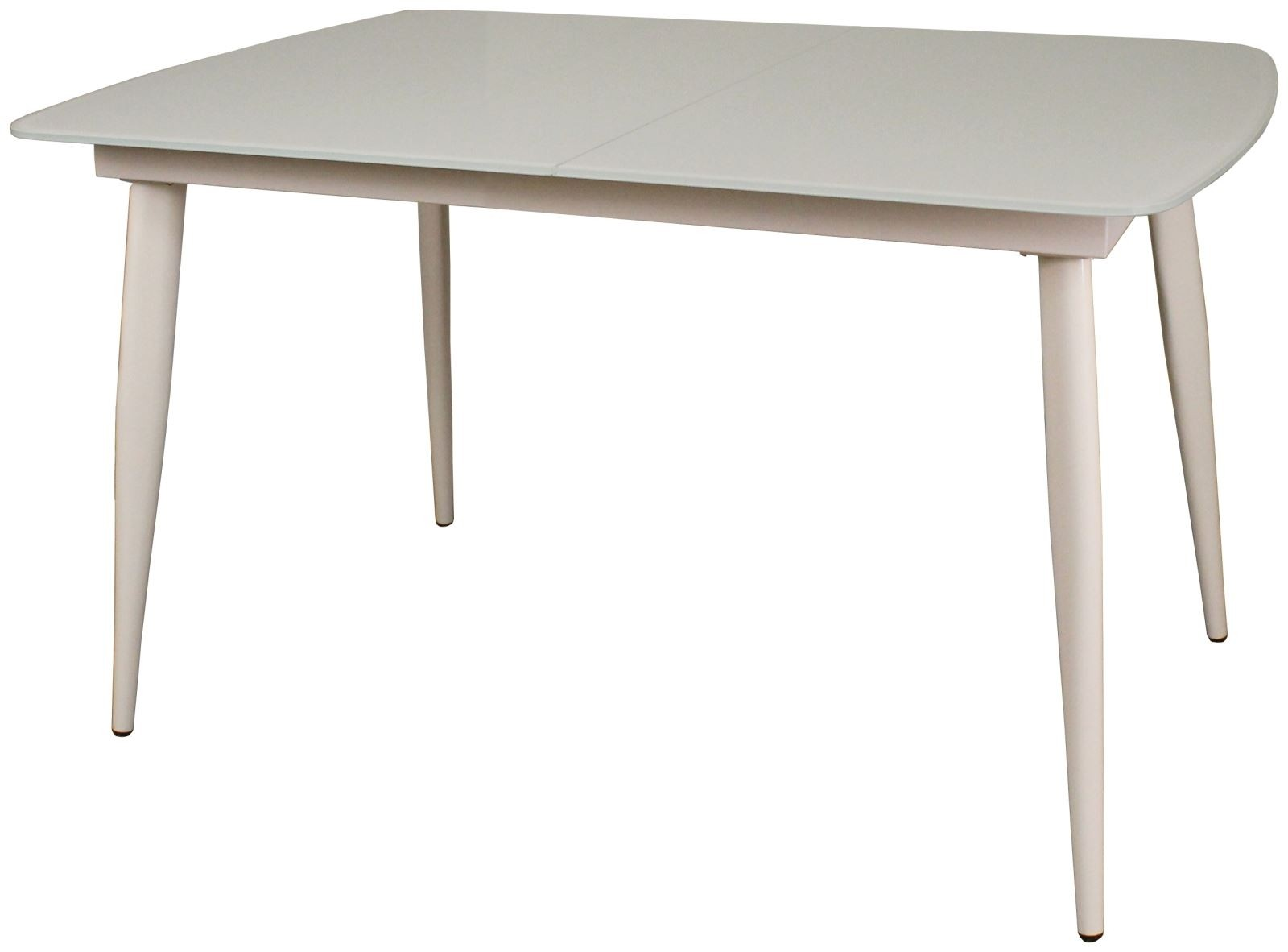 CONTEMPORARY Small Extending Dining Table - White