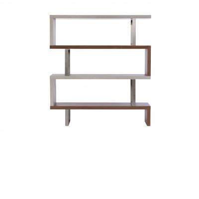 PETRA Walnut & Concrete Bookcase