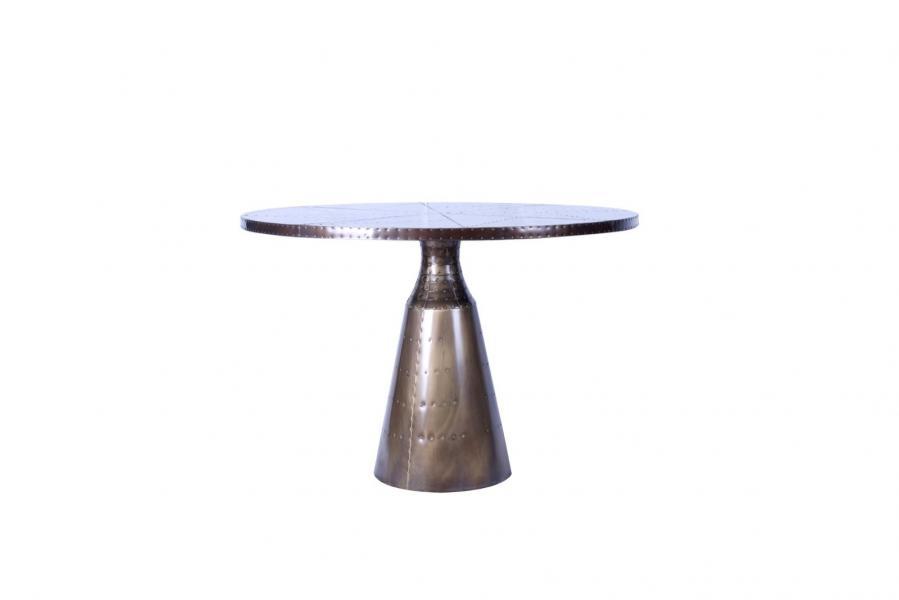 AVIATOR Bullet Round Table - Vintage Jet Brass