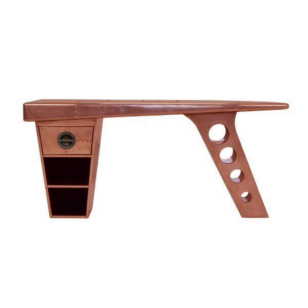 AVIATOR Half Wing Desk (smaller desk) - Copper Metal Finish