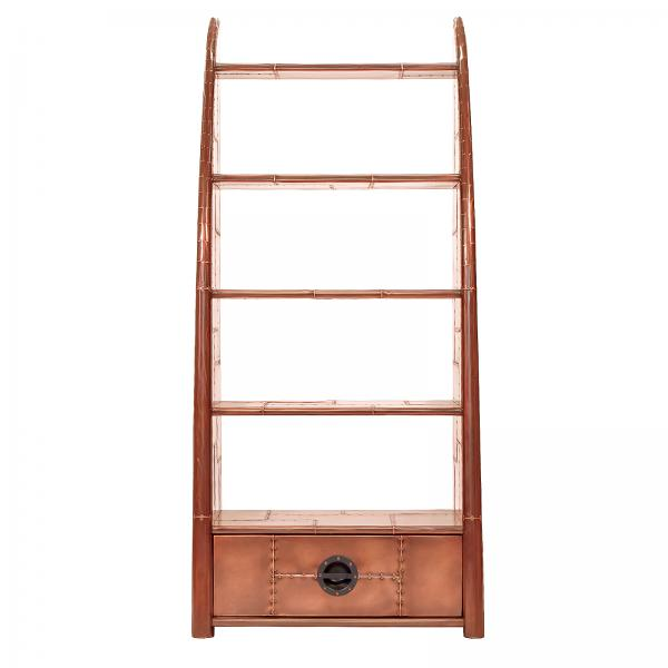 AVIATOR Wing Bookcase - Copper Metal Finish