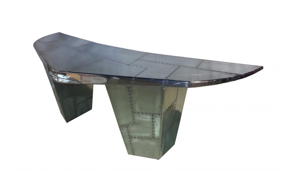 AVIATOR Wing Desk - Jet Silver