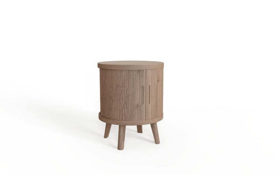 TAMBOUR Grey Lamp Table