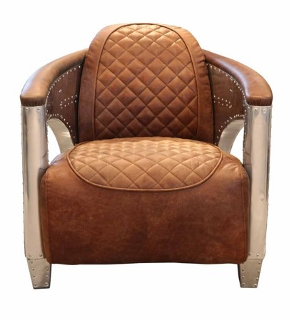 AVIATOR Hurricane Chair in Jet Silver