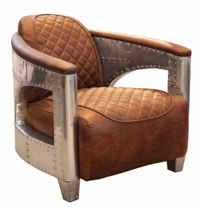 AVIATOR Hurricane Chair in Jet Silver