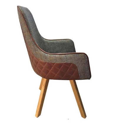 Contempo Ohio Chair - Swivel Turning Plate Wooden Legs
