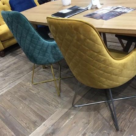 Contempo Utah Chair - Swivel Turning Plate Metal Legs