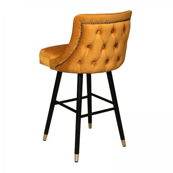 Upholstered Caroline Bar Stool - Buttoned Back