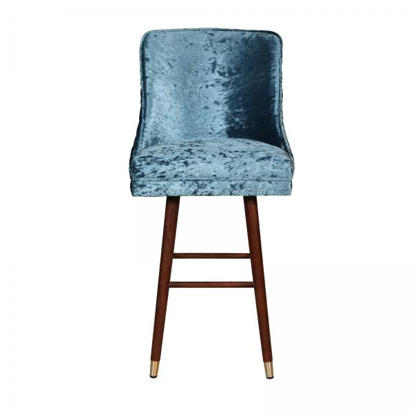 Upholstered Clare Bar Stool - Swivel Turning Plate Quilted Back