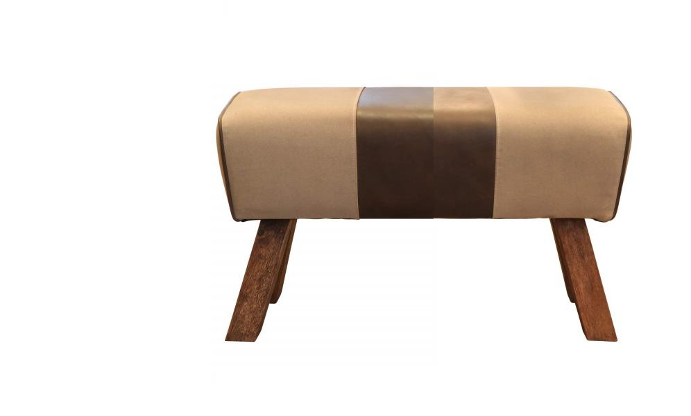 Upholstered Pommel Bench 2 Seater