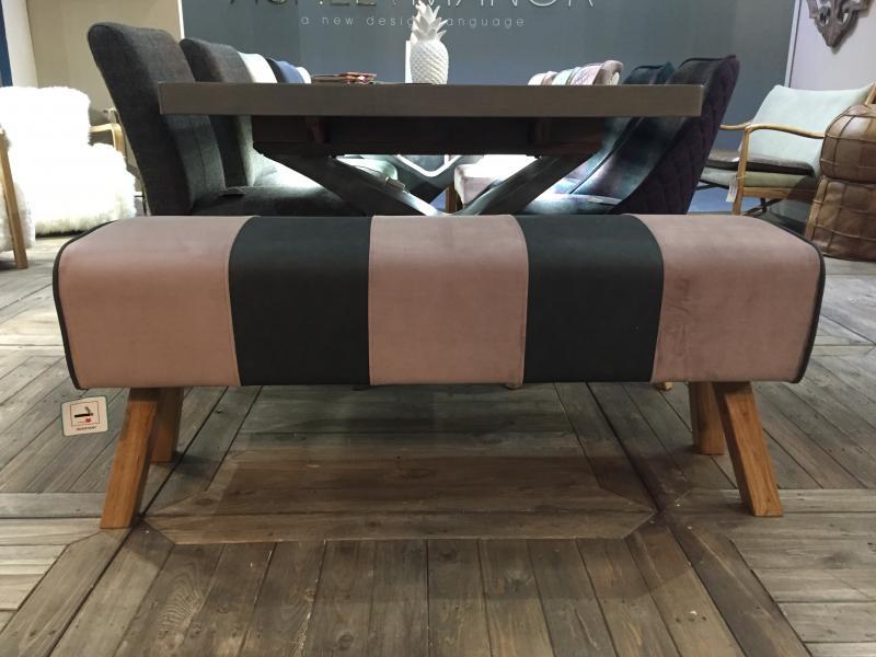 Upholstered Pommel Bench 3 Seater