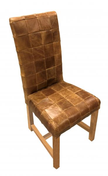 Upholstered Retford Patchwork Chair 3L Leather