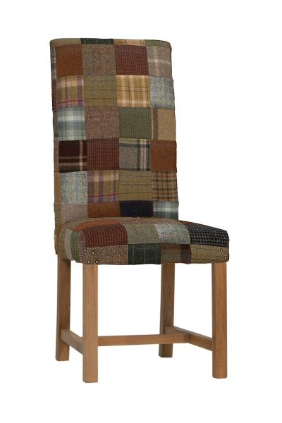 Upholstered Rollback Patchwork Chair Wool Mix