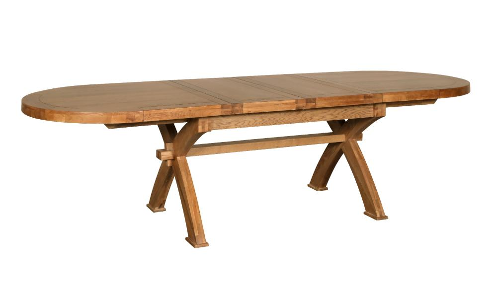 BLOOMSBURY WINDERMERE Oval X Leg Extending Dining Table (W10) Finish