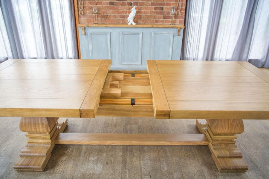 WINDERMERE Rustic Monastery Extending Dining Table (W10) Finish