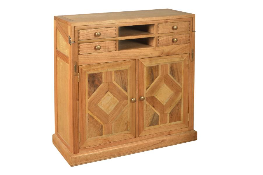 MANOR Welbeck Campaign Desk with Marble Inlay