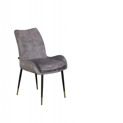 Sarah Dining Chair (Grey Velvet)