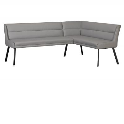 Laura Corner Bench (Left Grey PU)