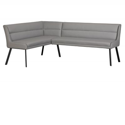Laura Corner Bench (Right Grey PU)