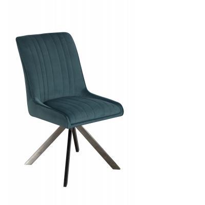 Chloe Dining Chair (Teal Velvet)