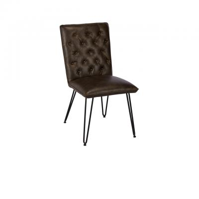 Lewis Dining Chair (Dark Brown)