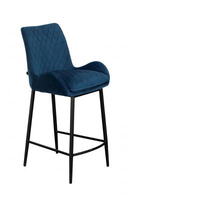 Sarah Counter Chair (Blue Velvet)