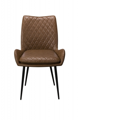 Sarah Dining Chair (Brown PU)