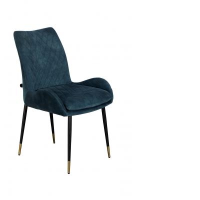 Sarah Dining Chair (Teal Velvet)