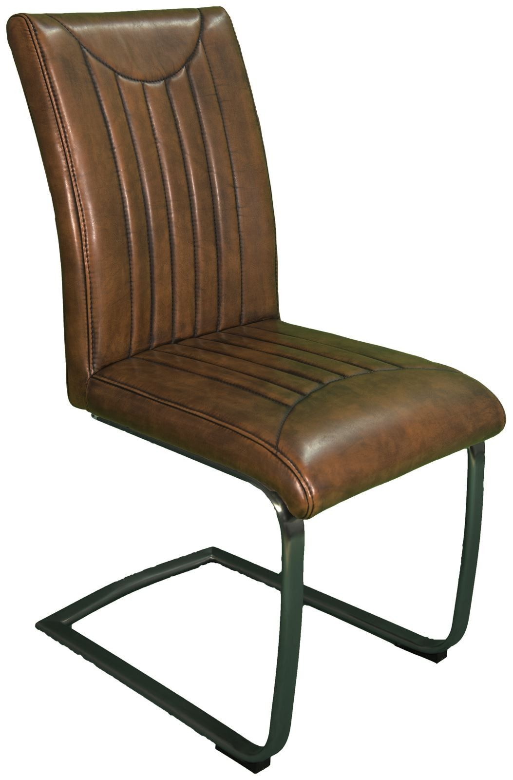 Heirloom Industrial Dining Chair - Retro Stitch Vintage Frame