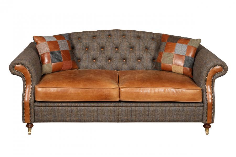 VINTAGE Hornby 3 Seater Sofa