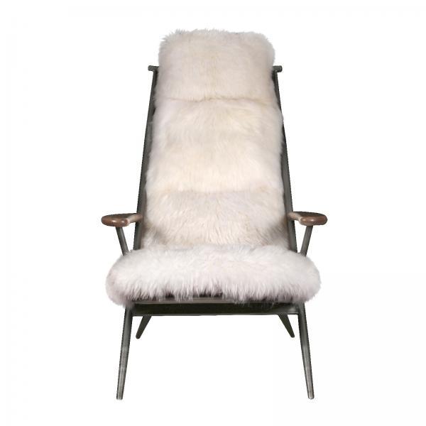 VINTAGE Milly Baa Baa Chair (Gunmetal frame White sheeps wool cover)