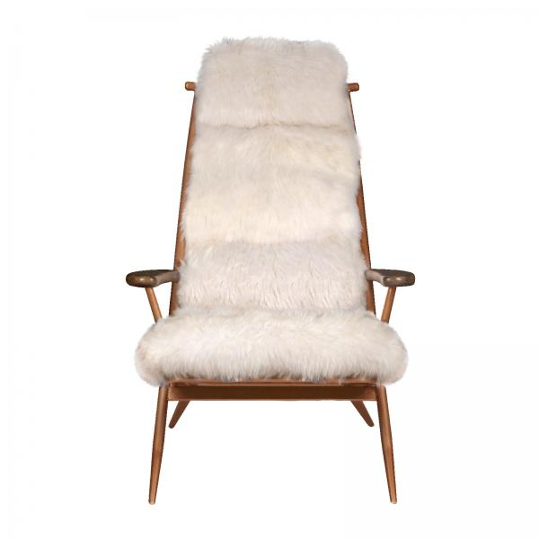 VINTAGE Molly Baa Baa Chair (Copper frame White sheeps wool cover)
