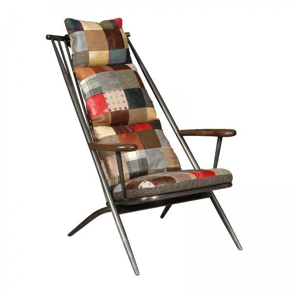 VINTAGE Sudbury Chair Frame (Gunmetal finish) + Patchwork Cover