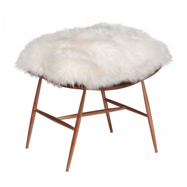 VINTAGE Molly Baa Baa Stool (Copper frame White sheeps wool cover)