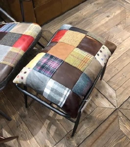 VINTAGE Sudbury/Ely/Cuprum Stool Cover Only (Patchwork)