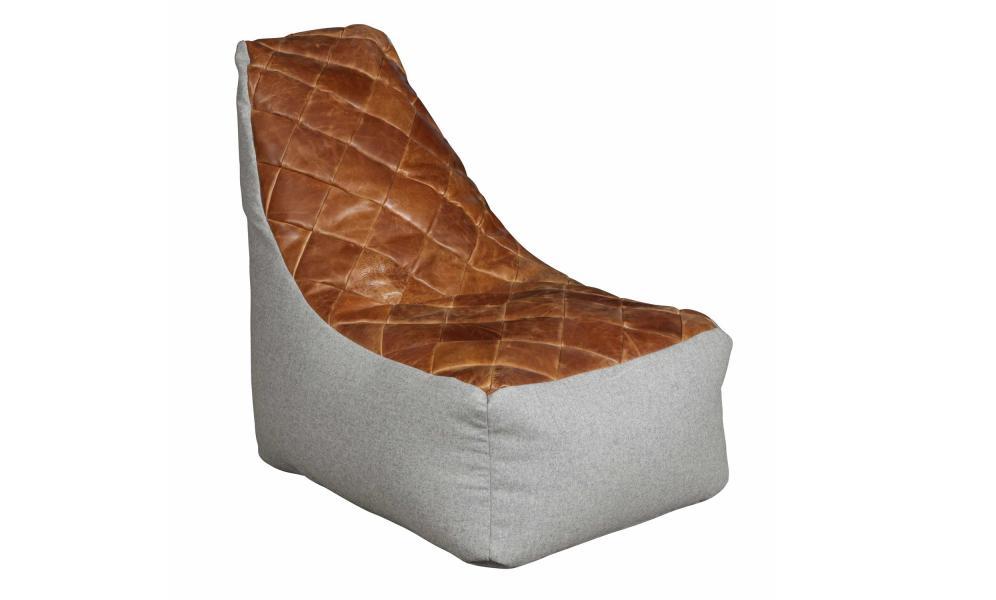 VINTAGE Bean Bag Pod Chair - 3L Cerato Leather