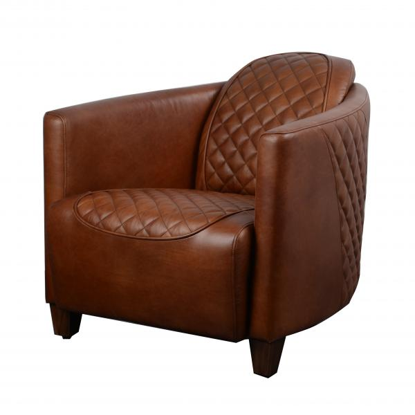 VINTAGE Triumph (Bonneville) Chair - Brown Leather