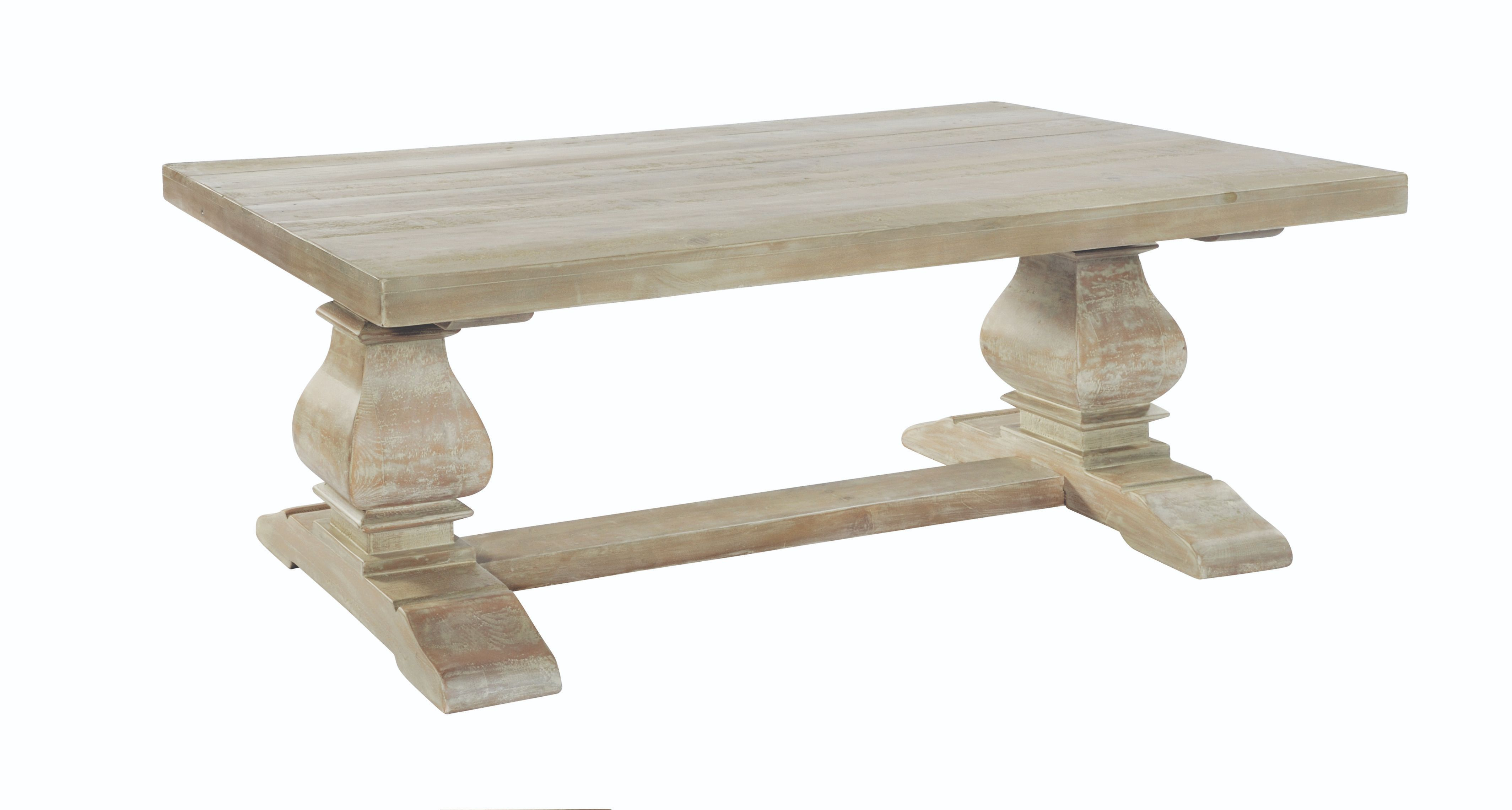 BROUGHTON COFFEE TABLE In Lime-washed Timber