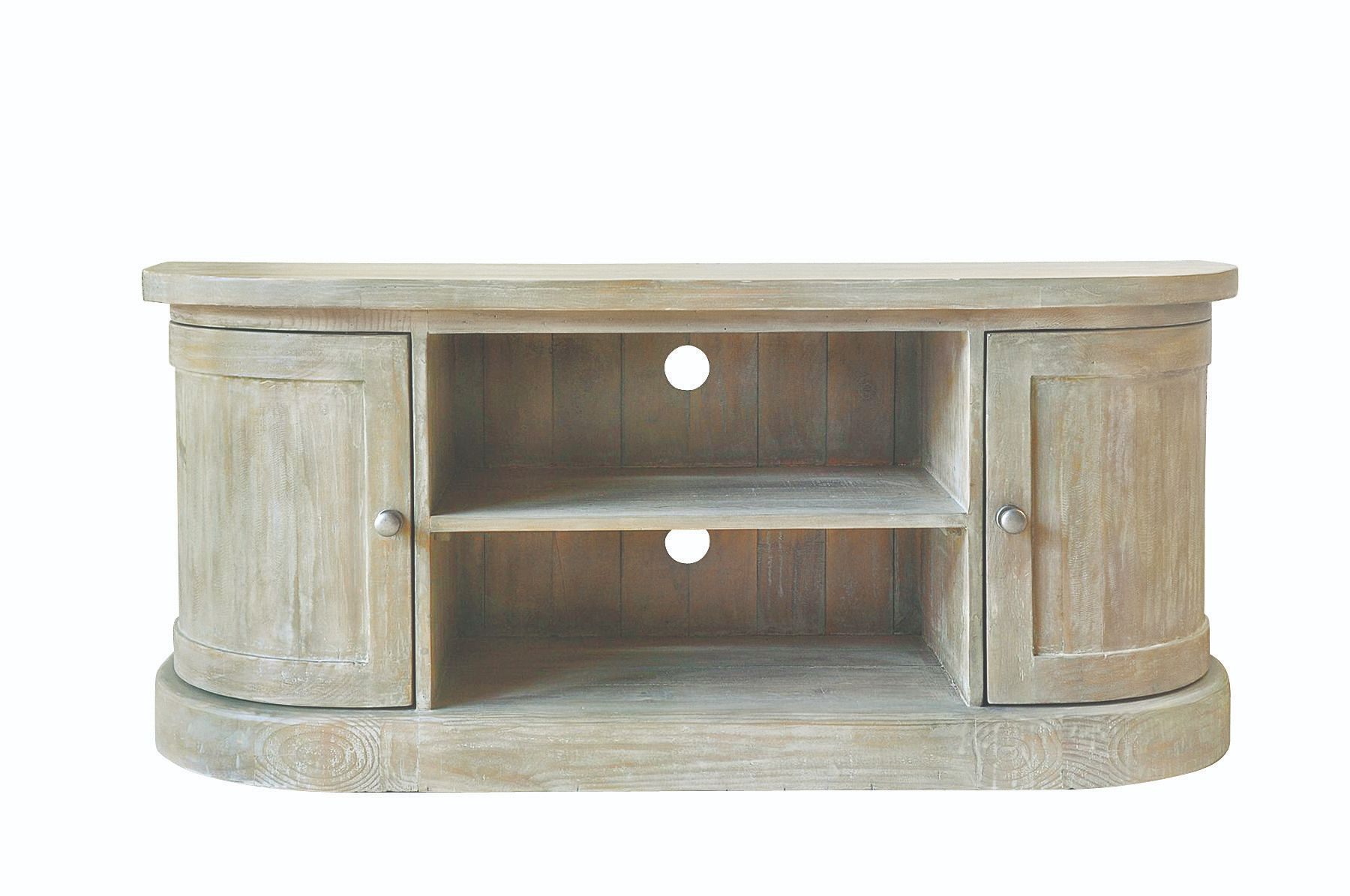 BROUGHTON TV UNIT In Lime-washed Timber
