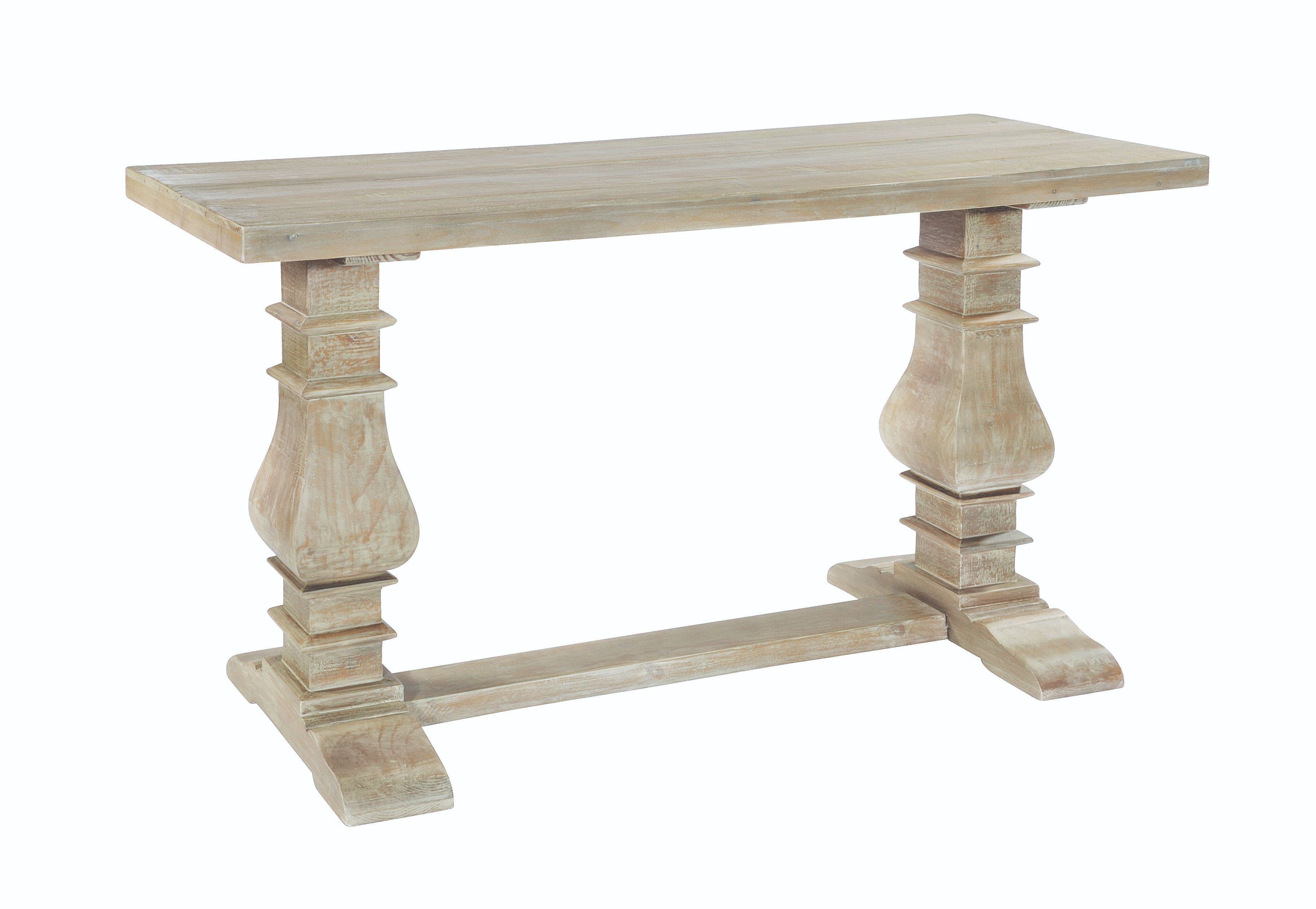 BROUGHTON CONSOLE TABLE In Lime-washed Timber